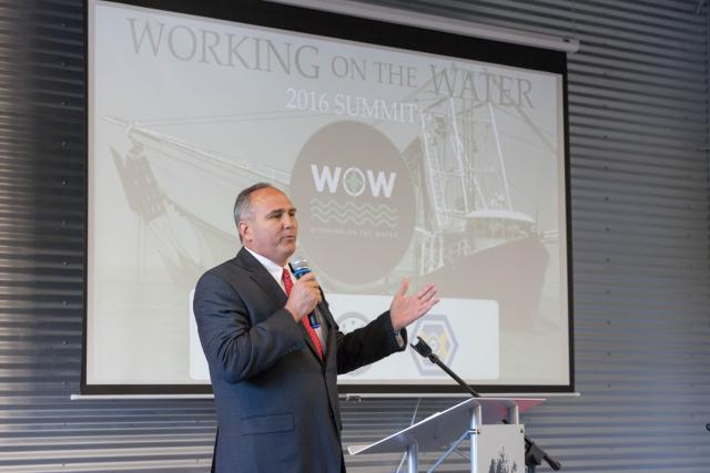 Parish President McInnis at the 2016 Working on the Water Summit & Expo