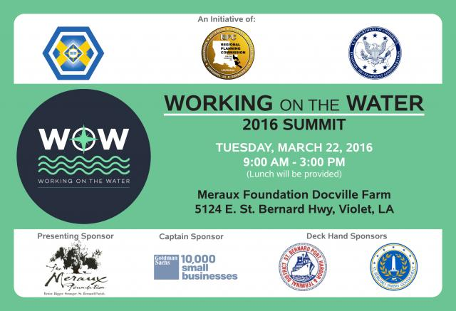 Working on the Water Summit 2016